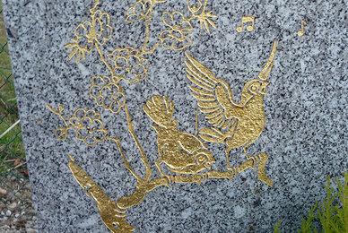 Le rechampissage de pierre tombale