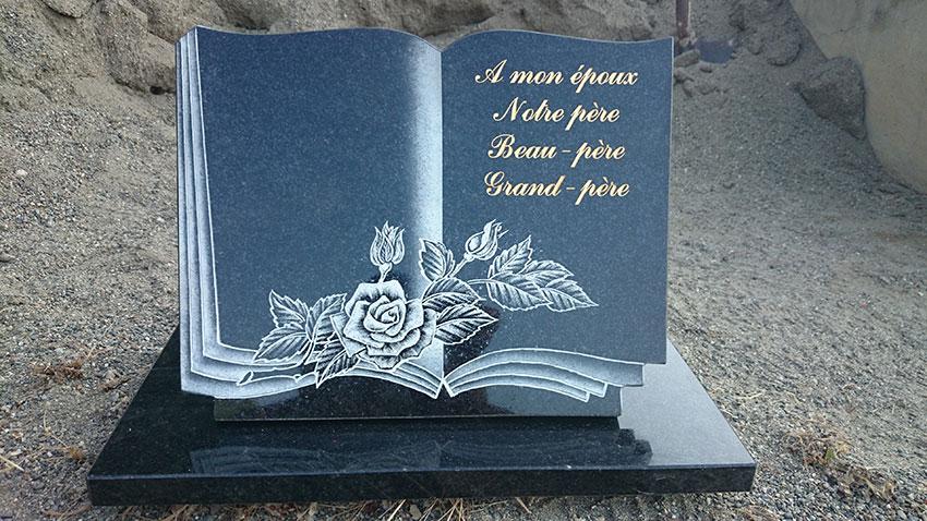 Plaque souvenir pour pierre tombale