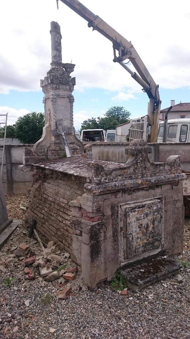 Rénovation de sépulture - AVANT